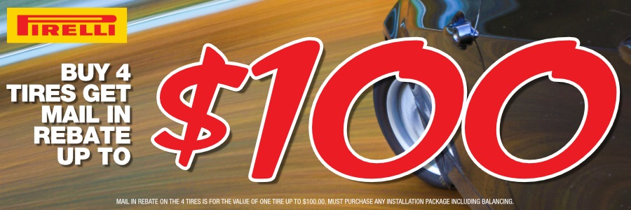 MAIL IN REBATE up to $100.00
