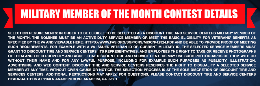 Veteran or Service Member of the month
